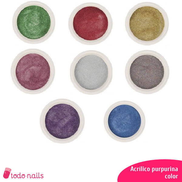 Acrílicos de color con purpurina