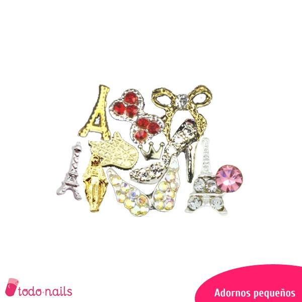 Adornos pequeños 3D para uñas