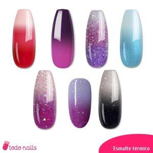 Esmaltes permanentes térmicos para uñas