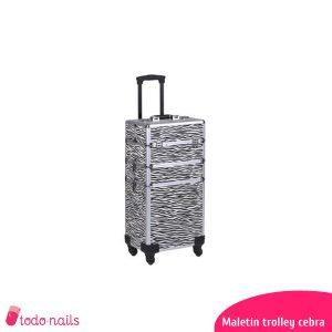 Maletín-trolley-cebra