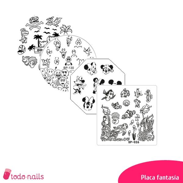 Placas de estampación para uñas Fantasía