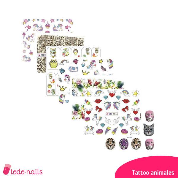 Tattoos de animales para uñas