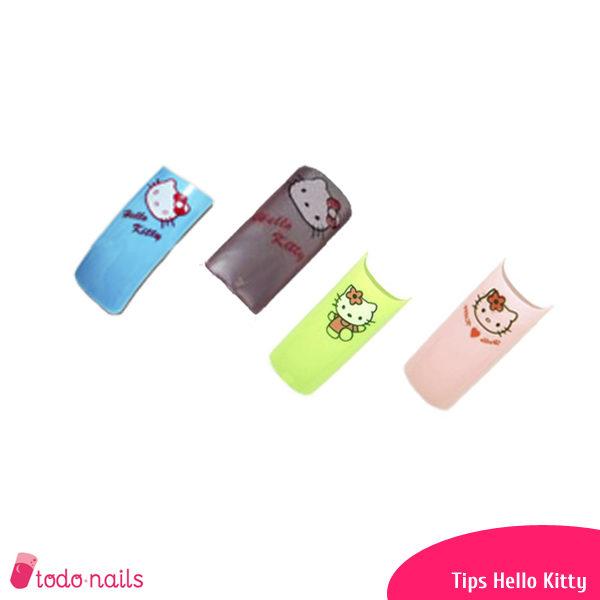 Tips para uñas Hello Kitty