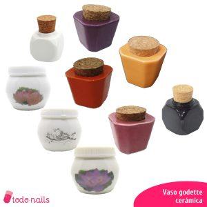 Vasos de cerámica Godet