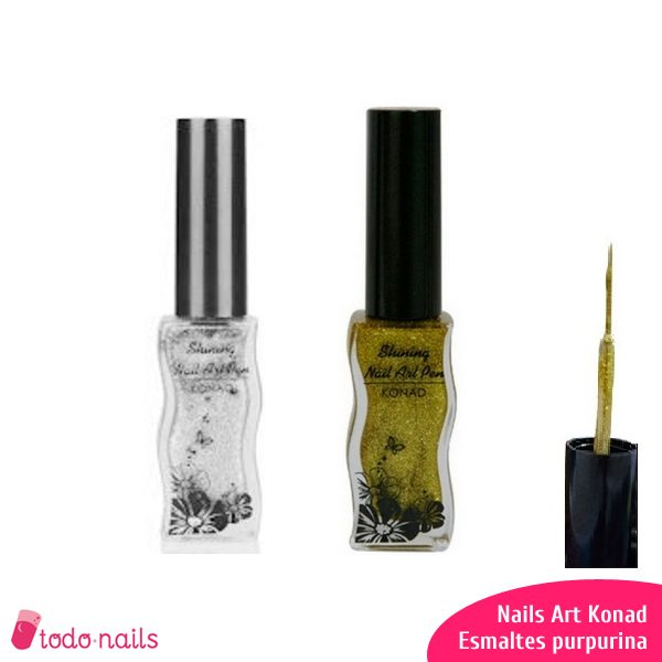 Nails Art Konad - Esmaltes Purpurina Fina