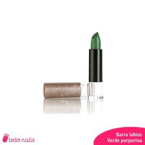 Barra-labios-verde-purpurina