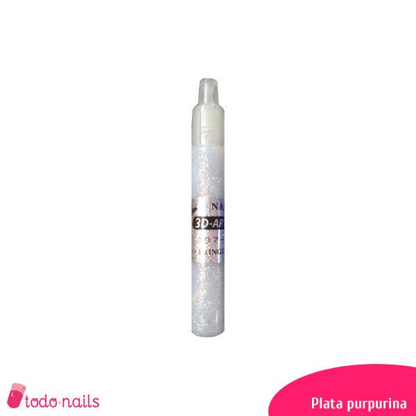 Lapiz-3d-plata-purpurina