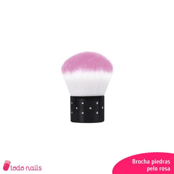 Brocha-piedras-pelo-rosa