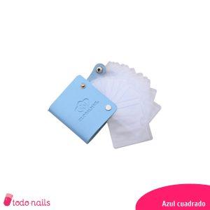 Estuche-placas-estampación-azul-cuadrado