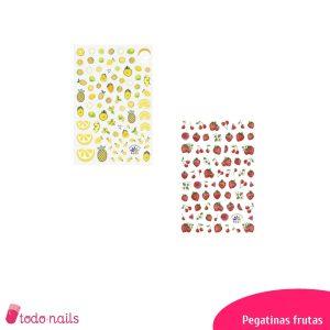 Pegatinas de frutas para uñas