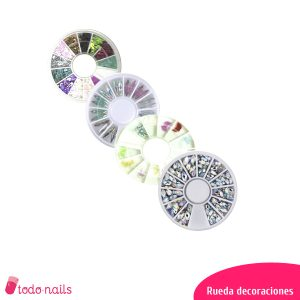 Rueda decoraciones para uñas