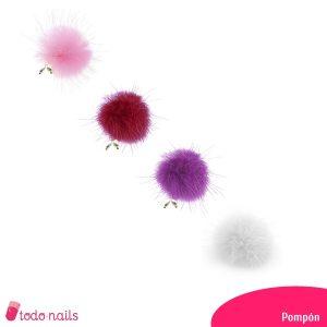 Pompones para uñas