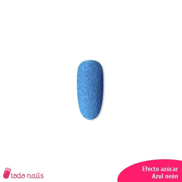 Efecto azúcar para uñas: Azul neón