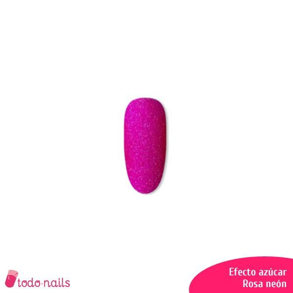 Efecto azúcar para uñas: Rosa neón