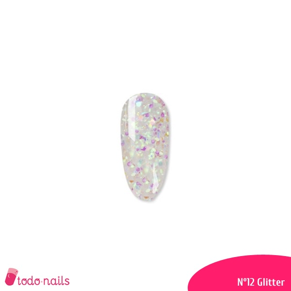 tubo polygel Glitter nº 12