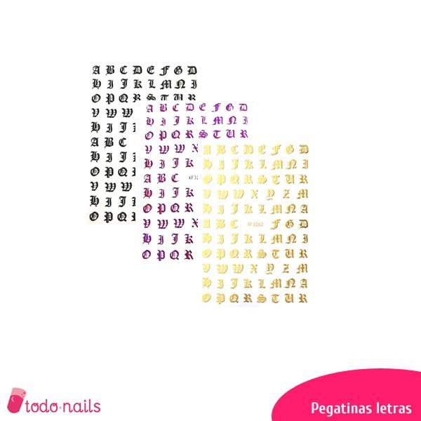 Pegatinas de letras para uñas