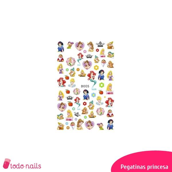 Pegatinas Princesas para uñas