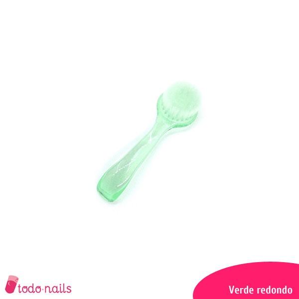 Cepillos para uñas redondo color verde